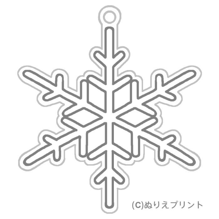 雪の結晶1(グレー)/クリスマス ...