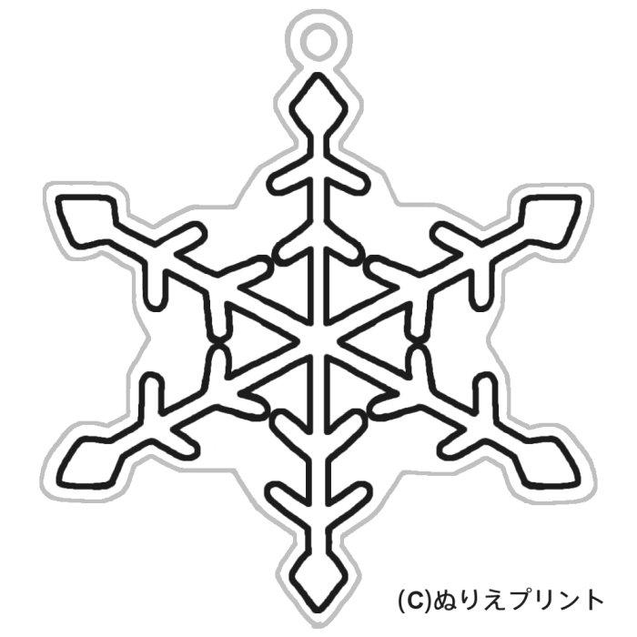 雪の結晶2(黒)/クリスマス飾り ... : クリスマス 飾り 印刷 : 印刷